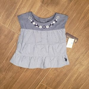 Polo Ralph Toddler Girls Top Size: 24M NWT